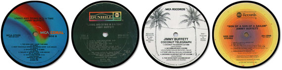 Jimmy Buffet Special Album Coaster Collector Set