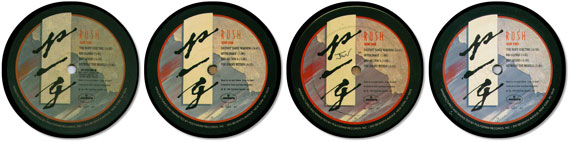 Rush Special Album Coaster Collector Set